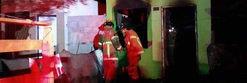 bomberos apagan incendio en la mision del sol en ciudad obregon